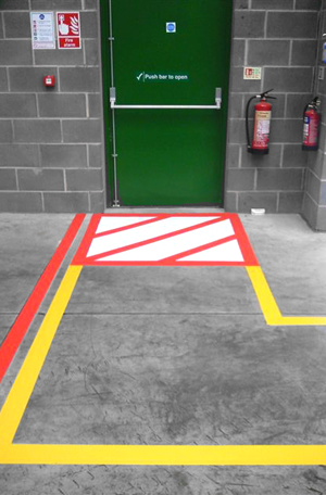 Fire Exit Floor Marking