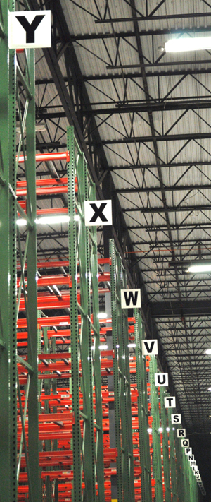 Warehouse Aisle markers